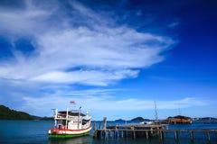 Χωριό ψαράδων ` s στη θάλασσα στοκ εικόνες με δικαίωμα ελεύθερης χρήσης