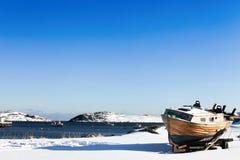 Χωριό ψαράδων Gjesvear Στοκ Εικόνες