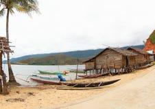 Χωριό ψαράδων, Manokwari - Bintuni Στοκ Εικόνες
