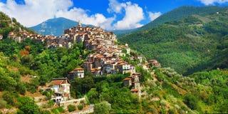 Χωριό Apricale Ιταλία Λιγυρία Στοκ εικόνα με δικαίωμα ελεύθερης χρήσης