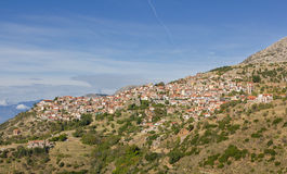 Χωριό Arachova, Boeotia, Ελλάδα Στοκ εικόνες με δικαίωμα ελεύθερης χρήσης