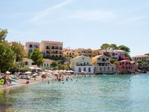 Χωριό Assos στο νησί Kefalonia, Ελλάδα Στοκ Εικόνες