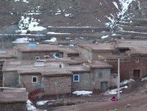 Χωριό Berber στα βουνά ατλάντων Μαρόκο Στοκ Εικόνες