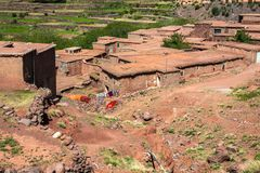 Χωριό Berber στα βουνά ατλάντων, Μαρόκο Στοκ φωτογραφίες με δικαίωμα ελεύθερης χρήσης