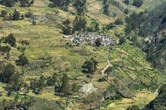 Χωριό Carania, Περού Στοκ Εικόνες