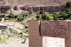 Χωριό Caspana, Χιλή στοκ εικόνες