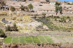 Χωριό Caspana, Χιλή στοκ εικόνα