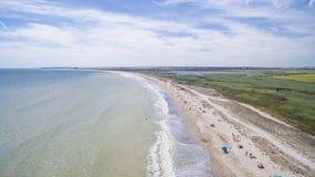 Χωριό Durankulak άνωθεν, ακτή Μαύρης Θάλασσας Στοκ εικόνα με δικαίωμα ελεύθερης χρήσης