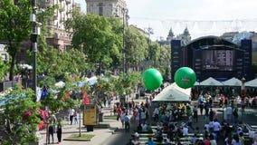 Χωριό Eurovision στο Kyiv στην Ουκρανία 07 05 2017 εκδοτικός φιλμ μικρού μήκους