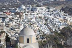 Χωριό Fira Santorini, Κυκλάδες, Αιγαίο πέλαγος, ελληνικό νησί, Ελλάδα στοκ φωτογραφία