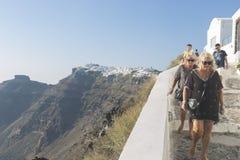 Χωριό Fira Santorini, Κυκλάδες, Αιγαίο πέλαγος, ελληνικό νησί, Ελλάδα στοκ εικόνες