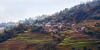 Χωριό Ghandruk, Νεπάλ Στοκ εικόνες με δικαίωμα ελεύθερης χρήσης