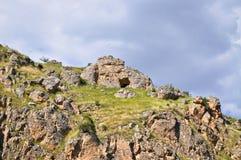 Χωριό Halfeti σε Sanliurfa, Τουρκία Ιστορικός, πολιτισμός Εξωτικός, Ανατολία στοκ εικόνες