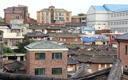 Χωριό Hanok Bukchon στη Σεούλ στοκ φωτογραφία με δικαίωμα ελεύθερης χρήσης