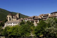 Χωριό Hecho, Hecho και κοιλάδα Anso, Huesca Στοκ εικόνα με δικαίωμα ελεύθερης χρήσης
