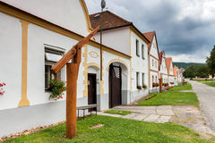 Χωριό Holasovice της ΟΥΝΕΣΚΟ στοκ φωτογραφία