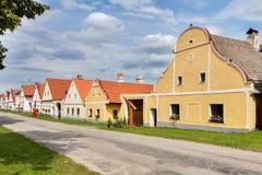 Χωριό Holasovice της ΟΥΝΕΣΚΟ στοκ φωτογραφίες