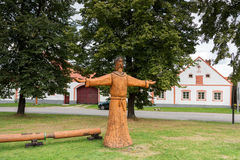 Χωριό Holasovice της ΟΥΝΕΣΚΟ στοκ εικόνα