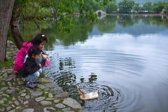 Χωριό Hongcun σε Anhui Provunce, Κίνα Στοκ φωτογραφία με δικαίωμα ελεύθερης χρήσης