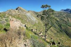 Χωριό Huaquis μέσα ούτε Yauyos Cochas, Περού Στοκ εικόνες με δικαίωμα ελεύθερης χρήσης