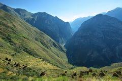 Χωριό Huaquis μέσα ούτε Yauyos Cochas, Περού Στοκ Φωτογραφίες