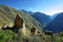 Χωριό Huaquis μέσα ούτε Yauyos Cochas, Περού Στοκ Εικόνες