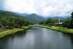 Χωριό KHIRIWONG ο καλύτερος καιρός στην Ταϊλάνδη Στοκ Εικόνες