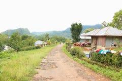 Χωριό Lolos Wae, ανατολή Nusa Tenggara Στοκ φωτογραφίες με δικαίωμα ελεύθερης χρήσης