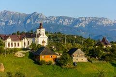 Χωριό Magura, μια γραφική θέση από το νομό Brasov, Τρανσυλβανία, Ρουμανία στοκ φωτογραφία