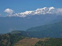 Χωριό Maling και Annapurna Rangel Στοκ Εικόνες