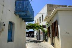 Χωριό Mandraki στο νησί Nisyros Στοκ Εικόνα