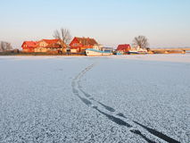 Χωριό Minge το χειμώνα, Λιθουανία Στοκ εικόνες με δικαίωμα ελεύθερης χρήσης