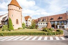 Χωριό Obernai στη Γαλλία Στοκ Εικόνα