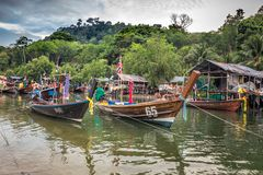 Χωριό Phuket ψαράδων Στοκ φωτογραφία με δικαίωμα ελεύθερης χρήσης