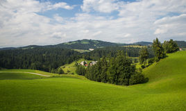 Χωριό Rovte, Σλοβενία στοκ εικόνα