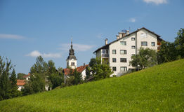 Χωριό Rovte, Σλοβενία στοκ φωτογραφία