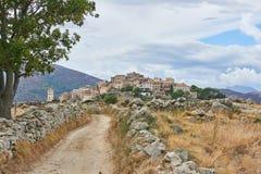 Χωριό Sant Antonino, Κορσική Στοκ Φωτογραφίες