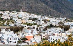 χωριό santorini νησιών της Ελλάδας emporio Στοκ εικόνες με δικαίωμα ελεύθερης χρήσης