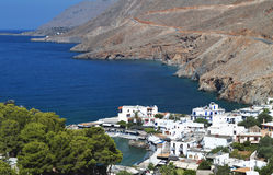 Χωριό Sfakia στο νησί της Κρήτης, Ελλάδα Στοκ φωτογραφίες με δικαίωμα ελεύθερης χρήσης