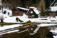Χωριό Shirakawago, Γκιφού Ιαπωνία Στοκ εικόνα με δικαίωμα ελεύθερης χρήσης