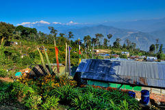 Χωριό Silerygaon, σκηνικό Kanchejuga, Sikkim Στοκ Εικόνα