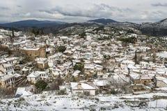 Χωριό Sirince, χωριό Sirince κάτω από το χιόνι Στοκ Φωτογραφία