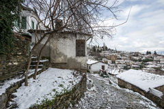 Χωριό Sirince, χωριό Sirince κάτω από το χιόνι Στοκ Φωτογραφίες