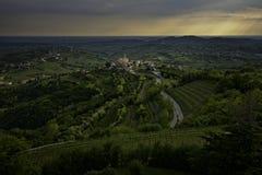 Χωριό Smartno σε Goriska Brda Σλοβενία Στοκ Εικόνες