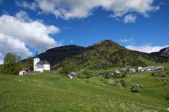 Χωριό Sorica, Σλοβενία Στοκ εικόνα με δικαίωμα ελεύθερης χρήσης