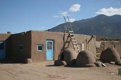 χωριό taos pueblo στοκ εικόνες