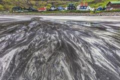 Χωριό Tjornuvik, Streymoy, Νήσος Φαρόι Στοκ Φωτογραφία