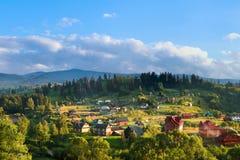 Χωριό Vorohta Ουκρανία Καρπάθια βουνά, άγριο τοπίο Ουκρανία, Vorohta βουνών Στοκ φωτογραφίες με δικαίωμα ελεύθερης χρήσης