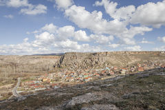 Χωριό Yaprakhisar σε Cappadocia Στοκ Εικόνες