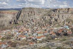 Χωριό Yaprakhisar σε Cappadocia Στοκ Φωτογραφία